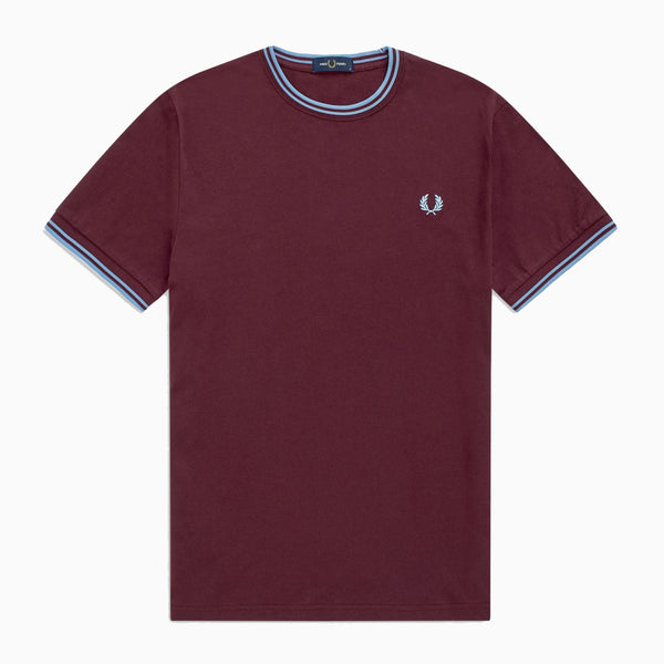Fred Perry Twin Tipped T-Shirt - Mahogany