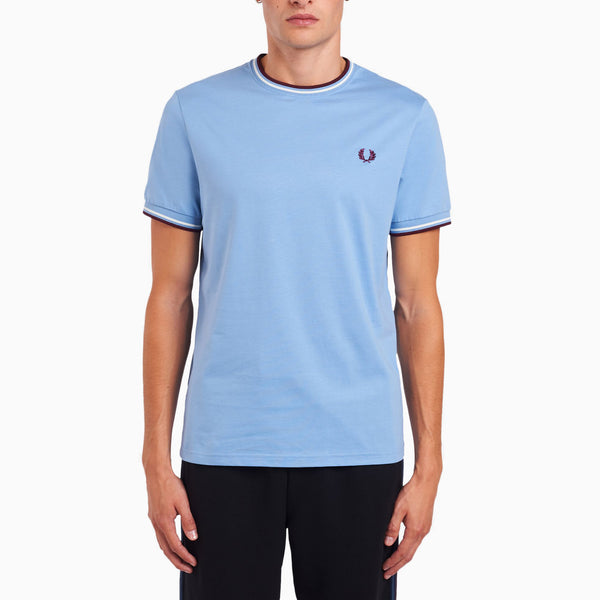 Fred Perry Twin Tipped T-Shirt - Sky