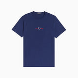 Fred Perry Embroidered T-Shirt - French Navy