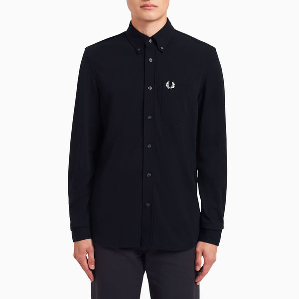 Fred Perry Pique Texture Shirt - Navy