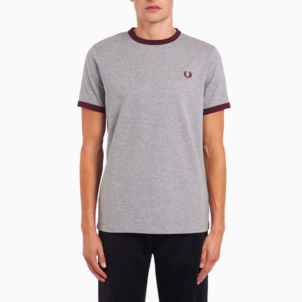 Fred Perry Ringer T-Shirt - Steel Marl