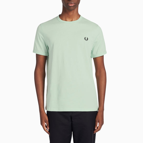 Fred Perry Ringer T-Shirt - Misty Jade