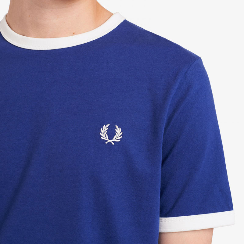 Fred Perry Ringer T-Shirt - Nautical Blue