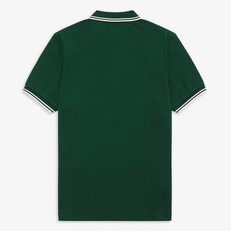 Fred Perry Twin Tipped Polo Shirt - Ivy/White