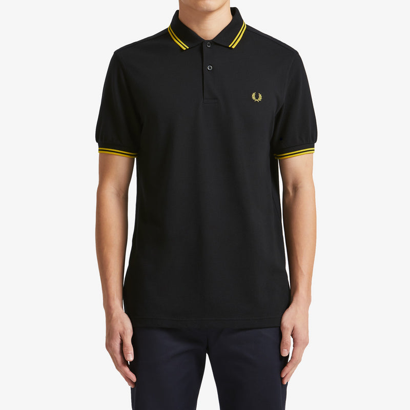 Fred Perry Twin Tipped Polo Shirt Black/Yellow
