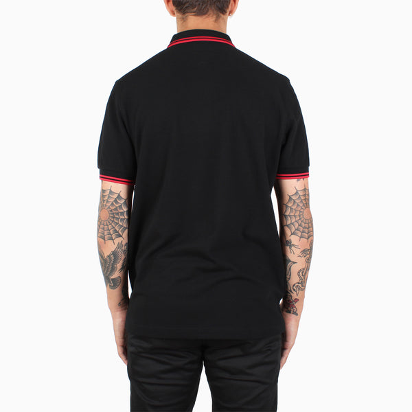 Fred Perry Twin Tipped Polo Shirt - Black/Red