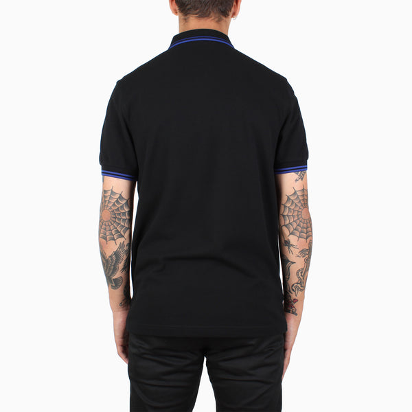 Fred Perry Twin Tipped Polo Shirt - Black/Cobalt