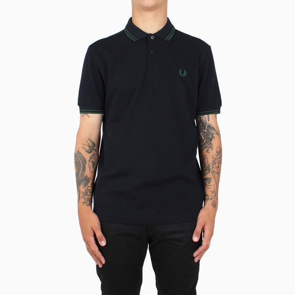 Fred Perry Twin Tipped Polo Shirt - Navy/Ivy