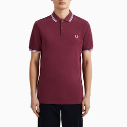 Fred Perry Twin Tipped Fred Perry Shirt - Port/ White/ White