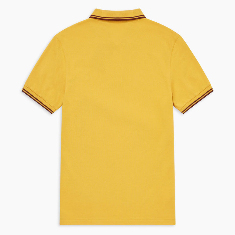 Fred Perry Twin Tipped Polo Shirt - Gold/Port