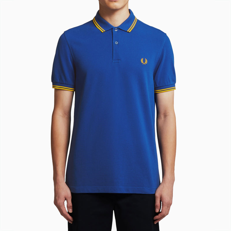 Fred Perry Twin Tipped Polo Shirt - Cobalt/Gold