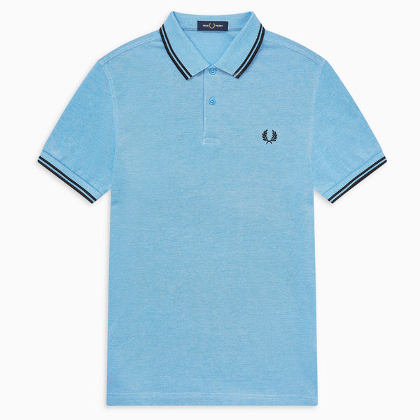 Fred Perry Twin Tipped Polo Shirt - Wave White Oxford/Black