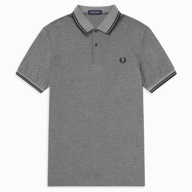 Fred Perry Twin Tipped Polo Shirt - Anchor Black Oxford/Black