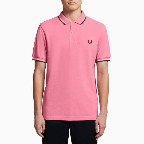 Fred Perry Twin Tipped Fred Perry Shirt - Pink Fizz/ White/ Black