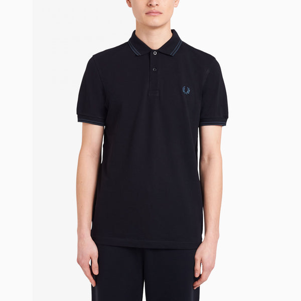 Fred Perry Twin Tipped Fred Perry Shirt - Black/ Petrol