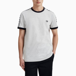 Fred Perry Taped Ringer T-Shirt - Marl Grey