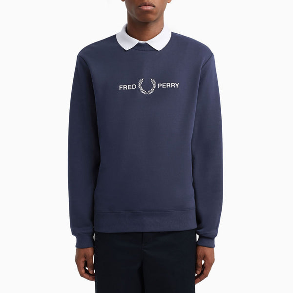 Fred Perry Graphic Sweatshirt - Carbon Blue