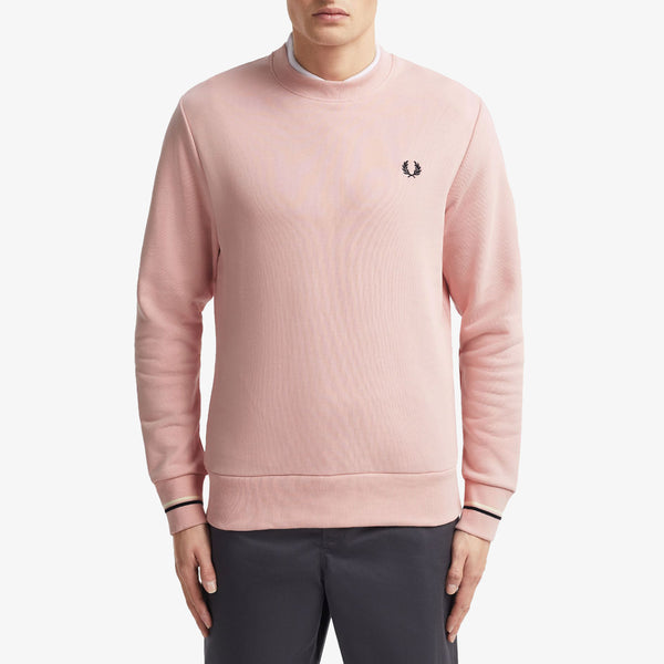 Fred Perry Crew Neck Sweatshirt - Silver Pink