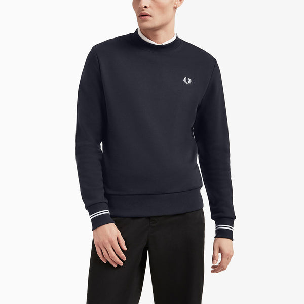 Fred Perry Crew Neck Sweatshirt - Navy