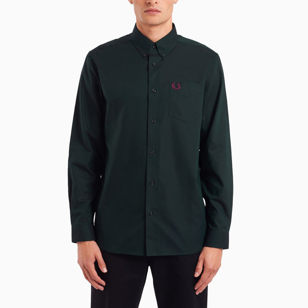 Fred Perry Oxford Shirt - Hunting Green