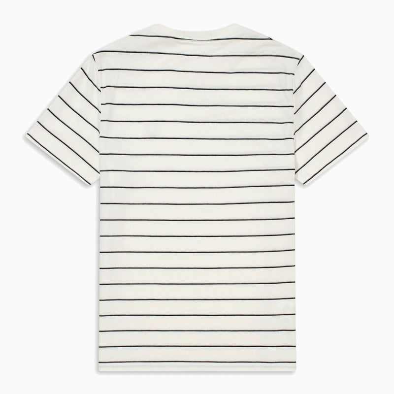 Fred Perry Fine Stripe T-Shirt - Snow White