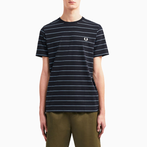 Fred Perry Fine Stripe T-Shirt - Navy