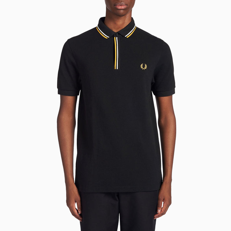 Fred Perry Tipped Placket Polo Shirt - Black