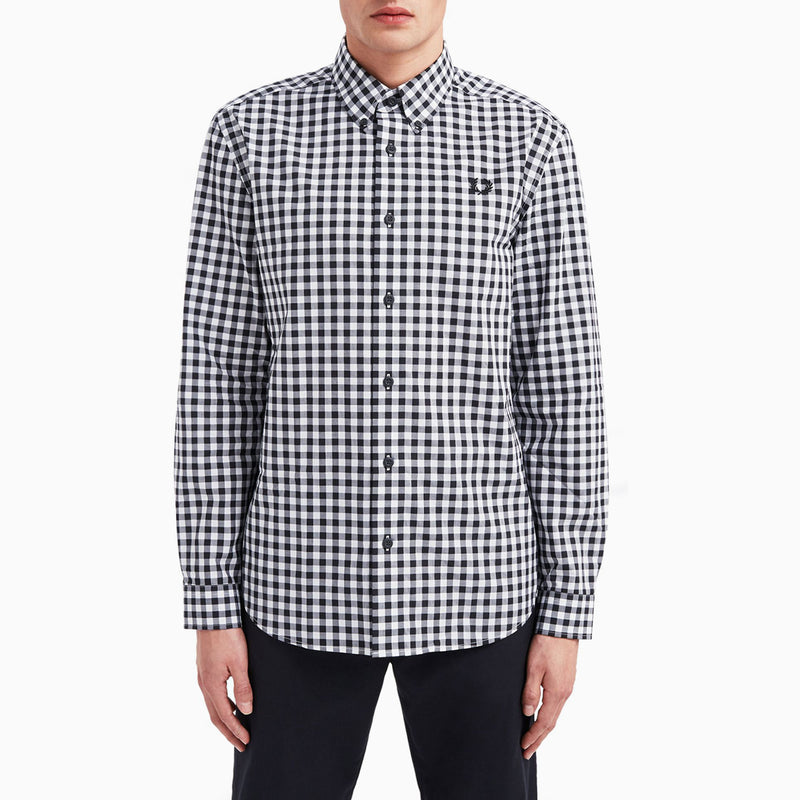 Fred Perry 2 Colour Gingham Shirt - Snow White