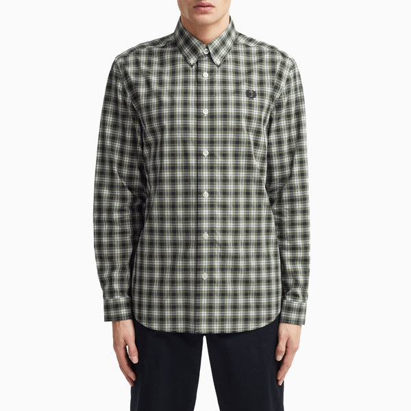 Fred Perry Small Check Shirt - Navy