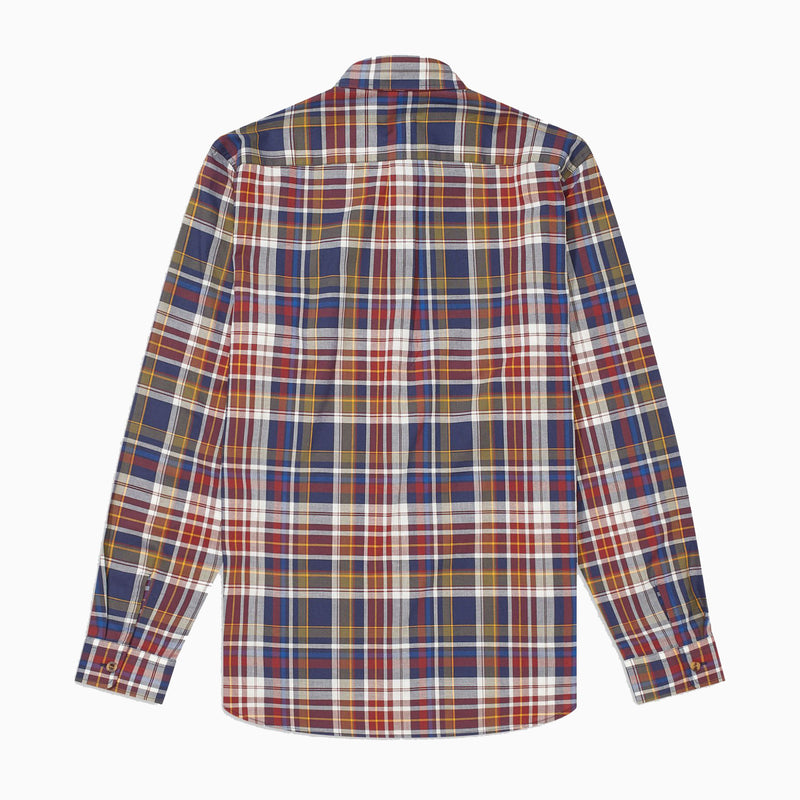 Fred Perry Tartan Shirt - Navy