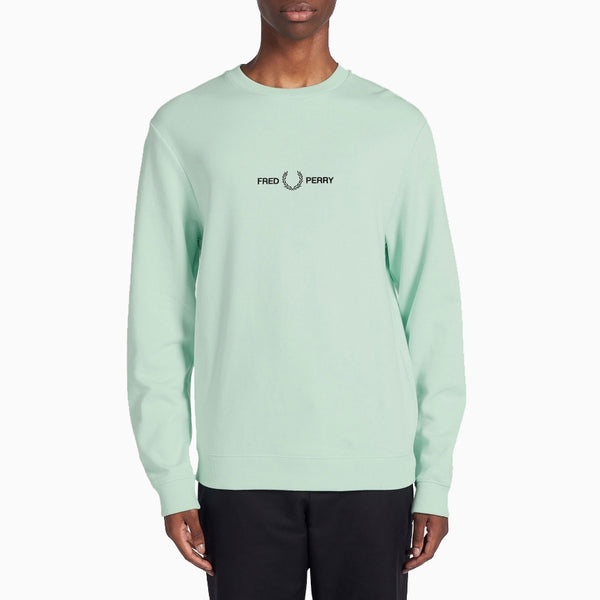 Fred Perry Graphic Sweatshirt - Misty Jade
