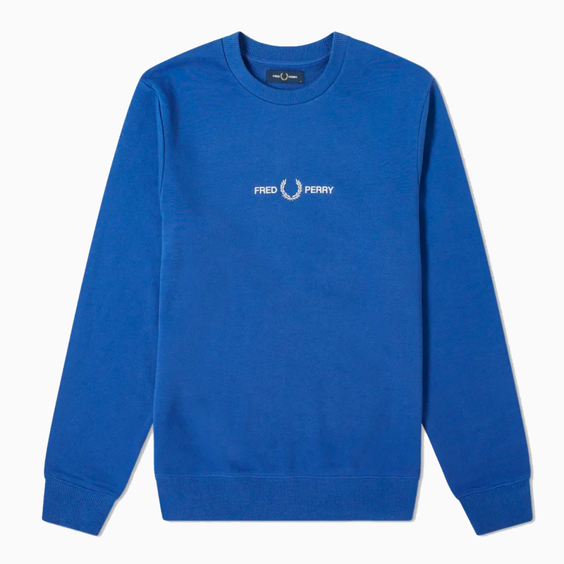 Fred Perry Graphic Sweatshirt- Nautical Blue