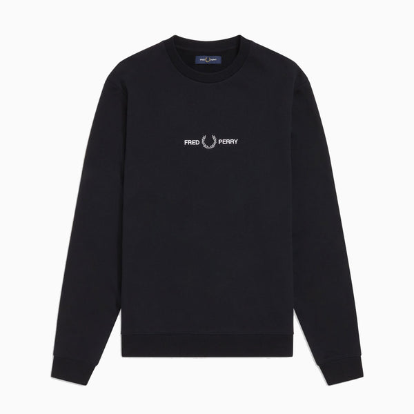 Fred Perry Graphic Sweatshirt - Black
