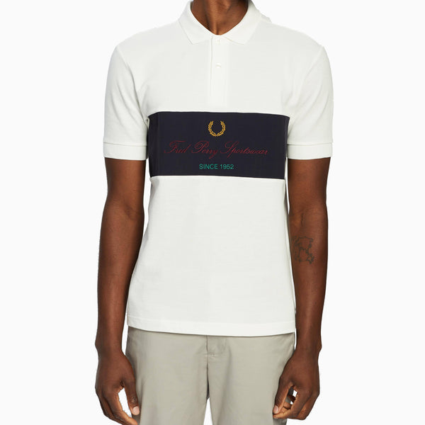 Fred Perry Archive Branding Polo Shirt - Snow White
