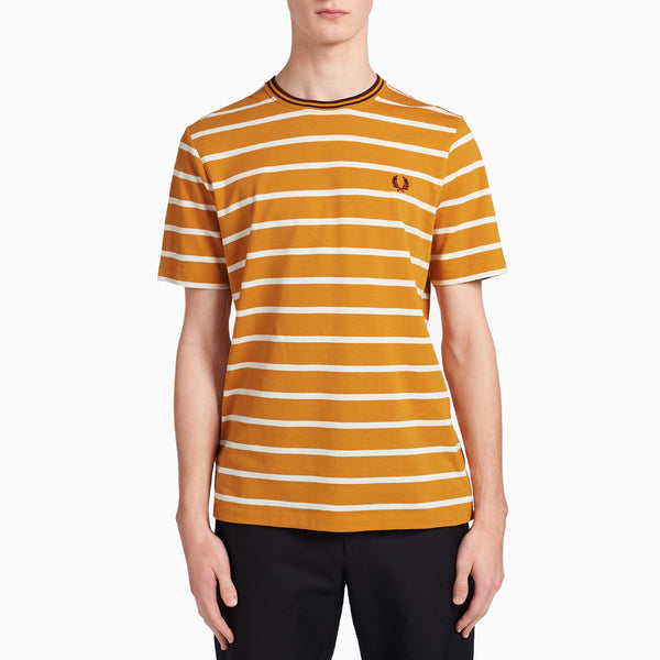 Fred Perry Stripe Pique T-Shirt - Bright Gold