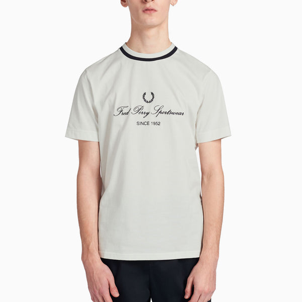 Fred Perry Embroidered T-Shirt - Snow White