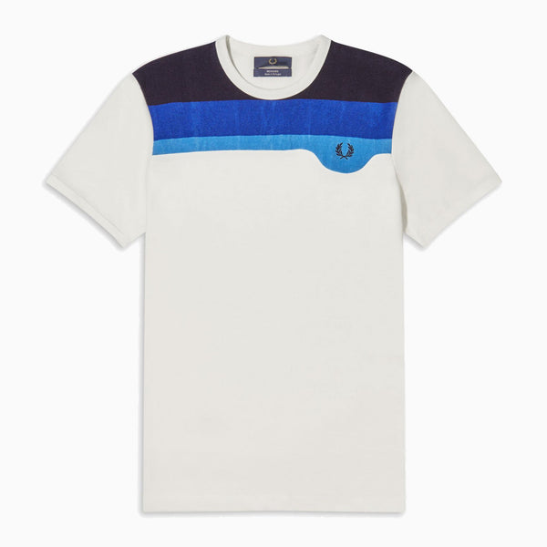 Fred Perry Towelling Detail T-Shirt - Snow White