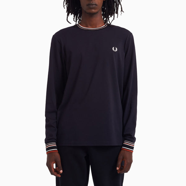 Fred Perry Striped Trim T-Shirt - Navy