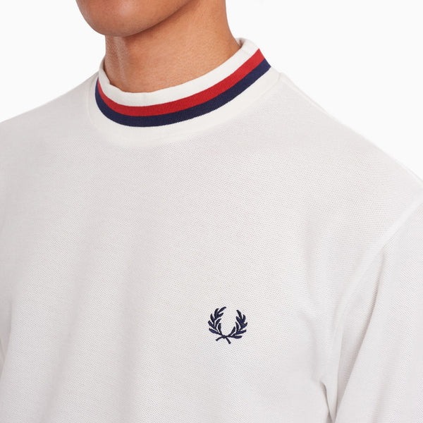 Fred Perry L/S Tipped Turtleneck - Snow White