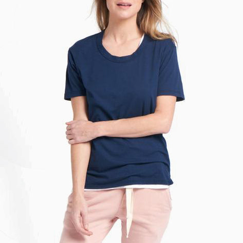 Organic Crew Super Relaxed Tee - Navy