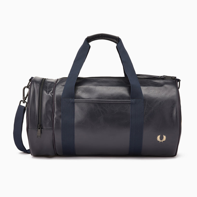 Fred Perry Tonal Barrel Bag - Dark Navy