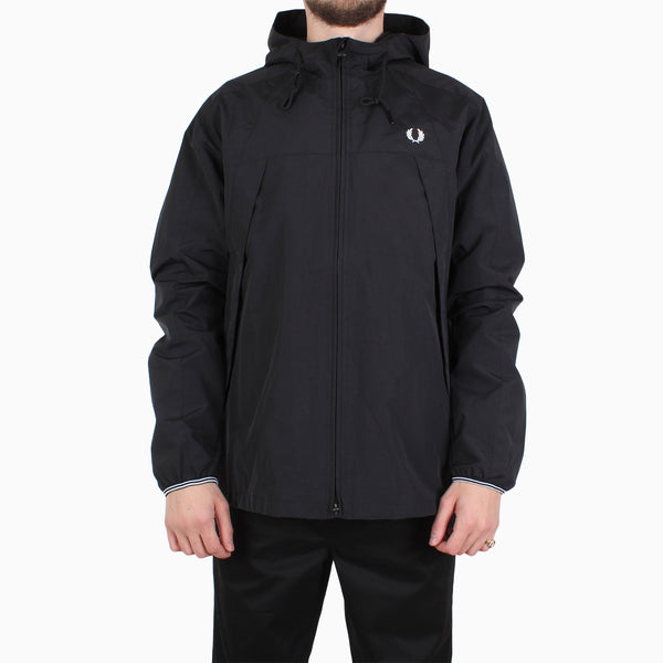 Fred Perry Panelled Zip Through Jacket - Black
