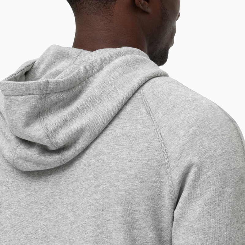 Reigning Champ Full Zip Hoodie - Heather Grey
