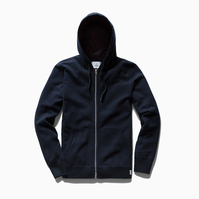 Reigning Champ - Knit Lightweight Terry Full Zip Hoodie - Navy