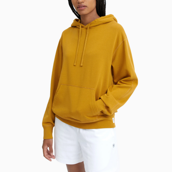 Reigning Champ -Women's Knit Lightweight Pima Terry Relaxed Pullover Hoodie - Medallion