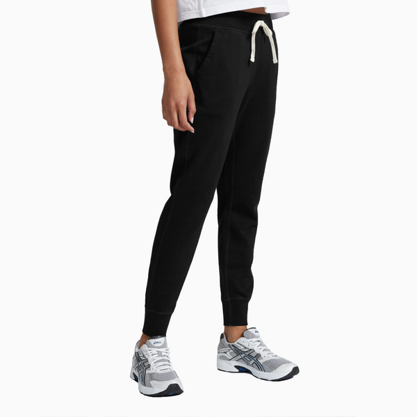 Reigning Champ -Women's Knit Pima Terry Slim Sweatpant - Black