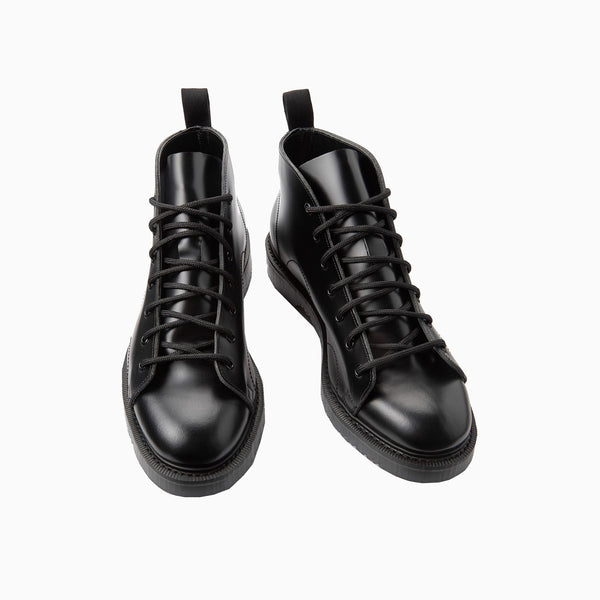Fred Perry George Cox Leather Monkey Boot - Black