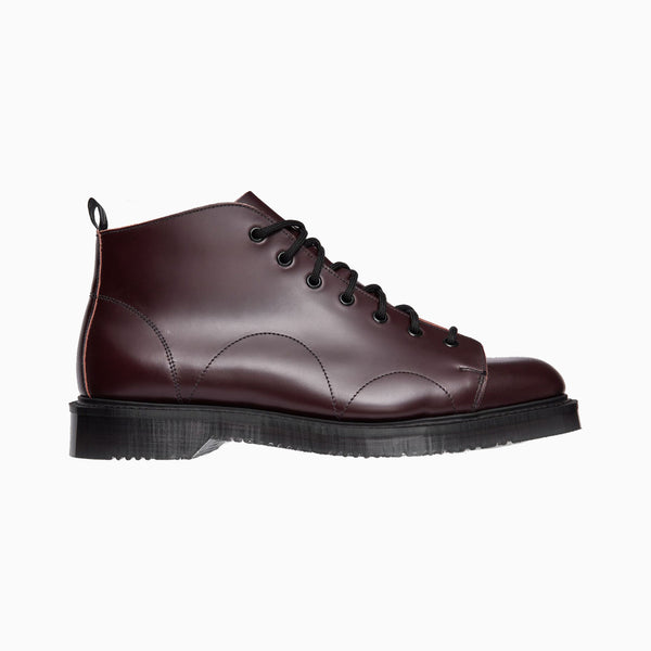 Fred Perry George Cox Leather Monkey Boot - Ox Blood