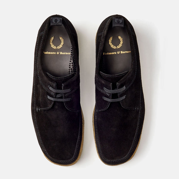 Fred Perry X P&B Suede Mid/Low - Black