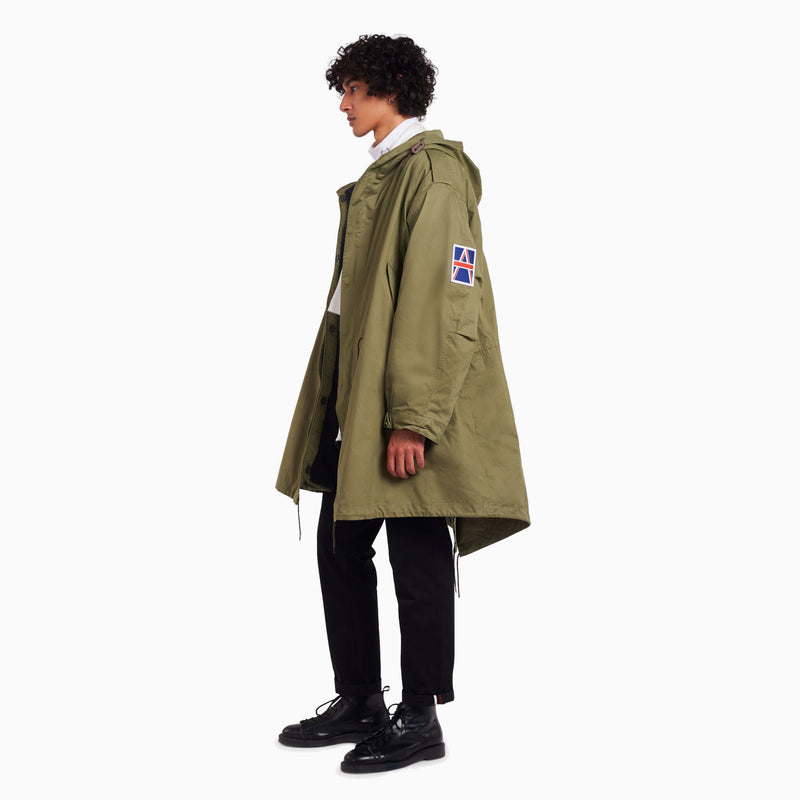 Fred Perry x Raf Simons Detachable Liner Parka - Olive